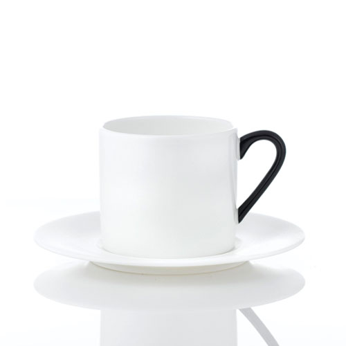 [화이트블룸] Black Edition Slow Morning Teacup / Saucer